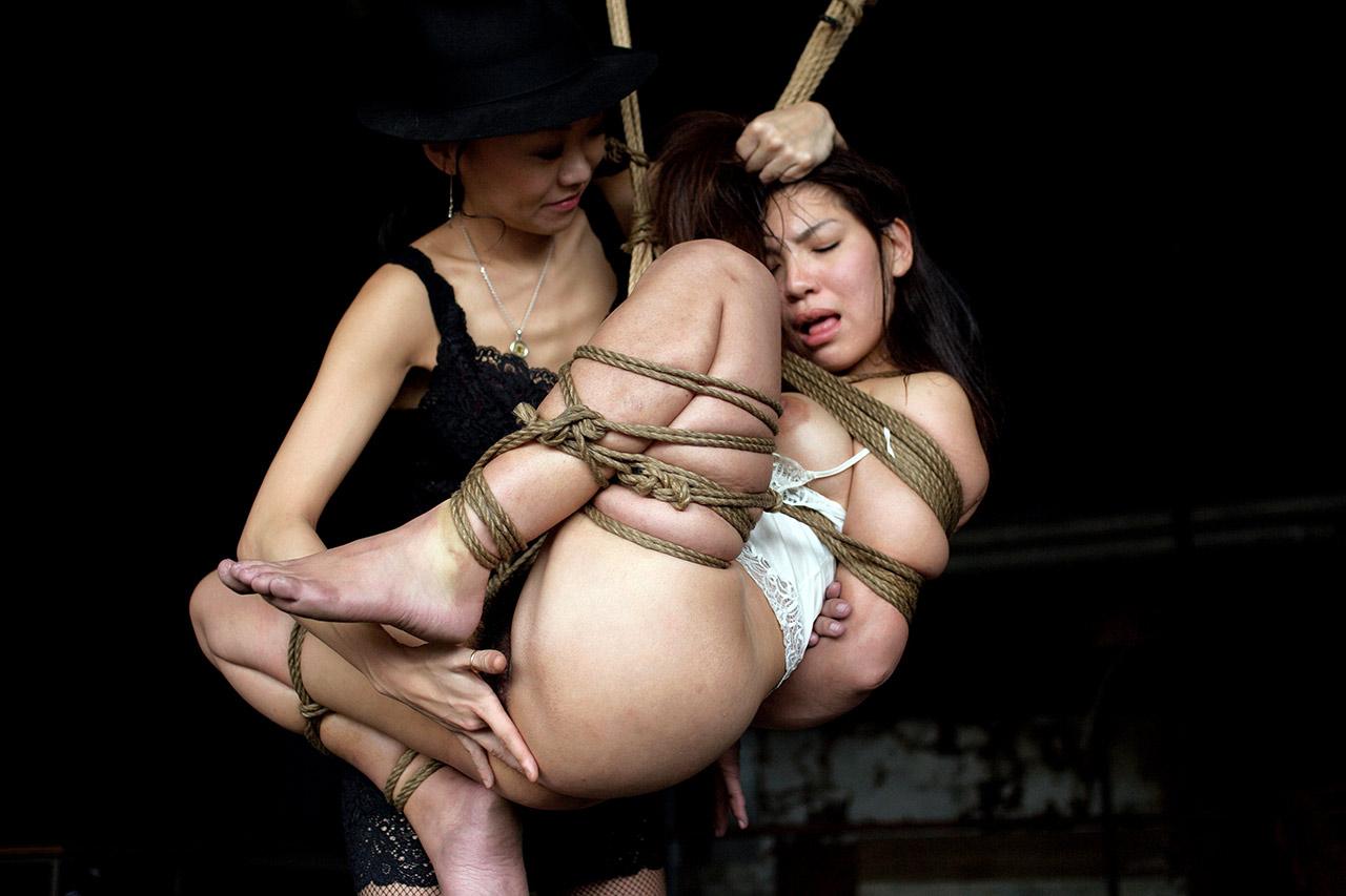 Two lesbians bondage girl